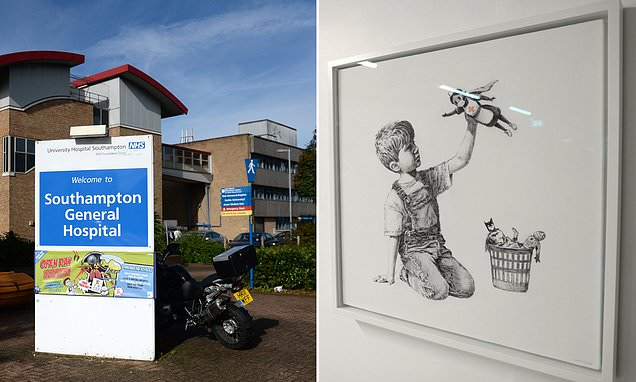 Game Changer di Banksy vicino all'ospedale di Southampton